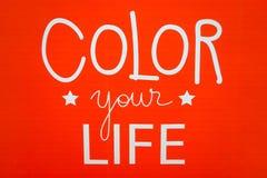 Красный цвет ваша жизнь Стоковое Фото