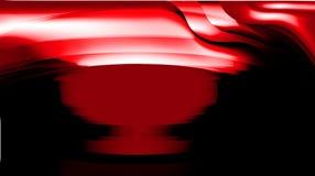 Красный цвет вектора конспекта с черными затеняемыми птицами иллюстрации вектора кривой обоев предпосылки ровными запачкал иллюстрация штока