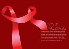 Красный цвет вектора покрасил дизайн плана ленты Стоковое Изображение