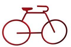 красный цвет велосипеда Стоковое Изображение