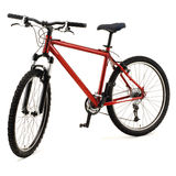 красный цвет велосипеда Стоковые Изображения