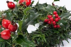 Красный цвет венка рождества стоковая фотография