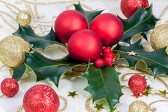 Красный цвет венка рождества стоковая фотография rf