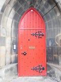 красный цвет двери старый Стоковое фото RF