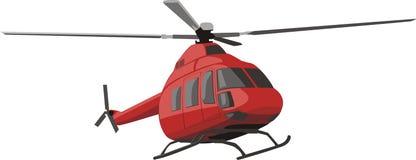красный цвет вертолета иллюстрация штока