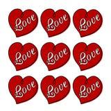 красный цвет влюбленности иллюстрации сердец Стоковое Фото