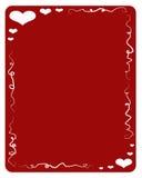 красный цвет влюбленности рамки Иллюстрация штока