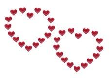 красный цвет влюбленности сердец Стоковое Изображение RF