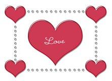 красный цвет влюбленности сердца Стоковое Изображение RF