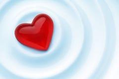 красный цвет влюбленности сердца Стоковое фото RF