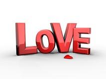 красный цвет влюбленности сердца Стоковое Фото