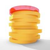 красный цвет водительства золота монетки Стоковое Изображение RF