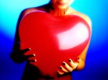 красный цвет воздушного шара Стоковая Фотография