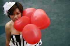 красный цвет воздушного шара Стоковые Фотографии RF
