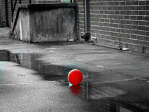 красный цвет воздушного шара i Стоковая Фотография