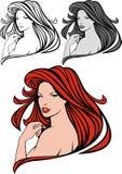 красный цвет волос девушки славный Стоковые Изображения
