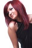 красный цвет волос девушки Стоковое Изображение RF
