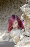 красный цвет волос девушки Стоковые Изображения RF