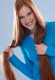красный цвет волос стоковые изображения rf