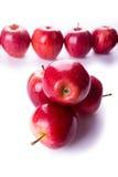 красный цвет вороха яблок Стоковое фото RF