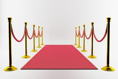 красный цвет входа ковра Стоковое Изображение