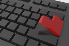 Красный цвет входит кнопку на клавиатуре Стоковые Изображения