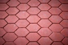 Красный цвет вымощая плитки Стоковое Фото