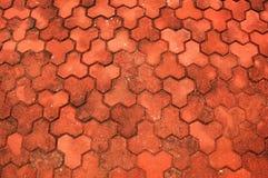 красный цвет выстилки кирпича Стоковые Фото