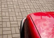 красный цвет выстилки части автомобиля Стоковое Изображение RF