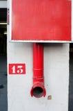 красный цвет выхода Стоковое Фото