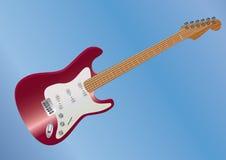 красный цвет гитары лежа Стоковая Фотография RF