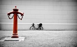 красный цвет гидранта Стоковые Фото