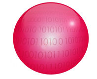красный цвет глобуса Стоковые Изображения