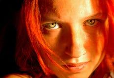 красный цвет гнева Стоковые Фото