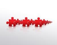красный цвет головоломки армии Стоковые Фото