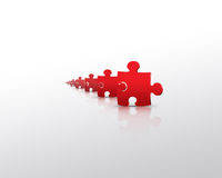 красный цвет головоломки колонии Стоковые Изображения RF