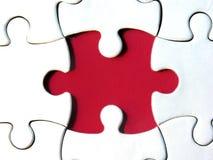 красный цвет головоломки Стоковое Фото