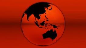 красный цвет горизонта земли иллюстрация вектора
