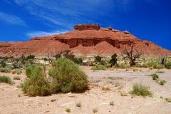 красный цвет горы Стоковое фото RF