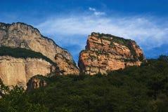 красный цвет горы Стоковая Фотография