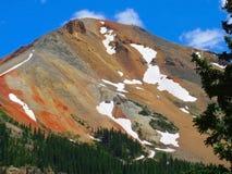красный цвет горы colorado ouray стоковые изображения