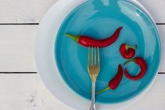 красный цвет горячего перца chili Стиль страны Стоковое фото RF