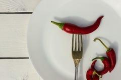 красный цвет горячего перца chili Стиль страны Стоковое Фото