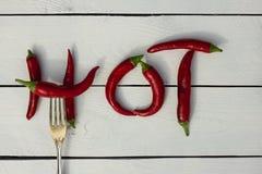 красный цвет горячего перца chili Стиль страны Стоковая Фотография