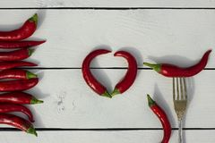 красный цвет горячего перца chili Стиль страны Стоковые Фотографии RF