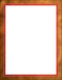 красный цвет граници коричневый кожаный Стоковые Фото