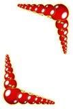 красный цвет граници яблока Стоковые Изображения RF