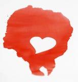 красный цвет графика чернил Стоковые Фотографии RF