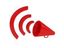 красный цвет громкоговорителя стоковое изображение rf