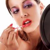 красный цвет губной помады Стоковая Фотография RF